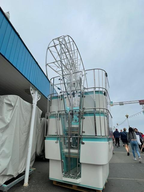 Gondolas will soon be added to the wheel, located on Llandudno Pier.