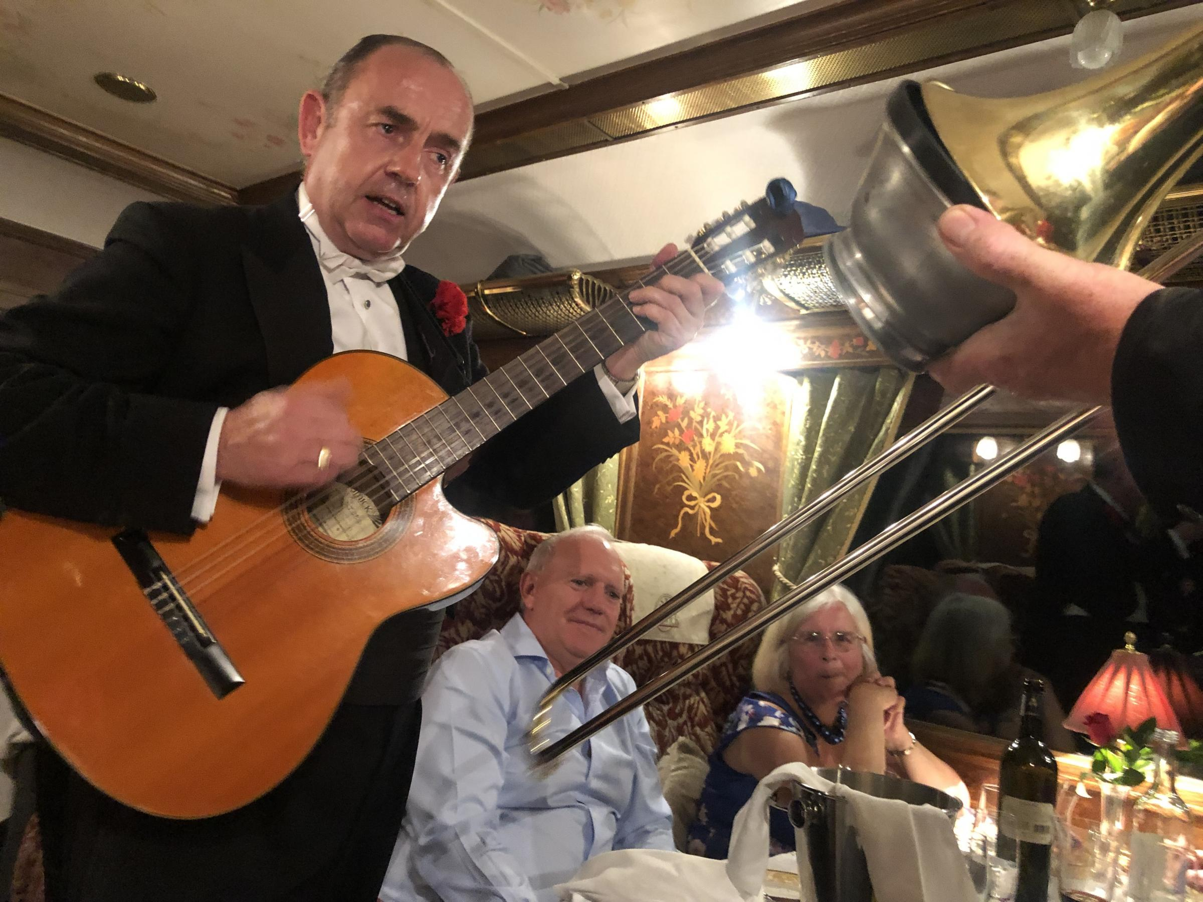 Rhythm of the train. The Northern Belles resident musicians