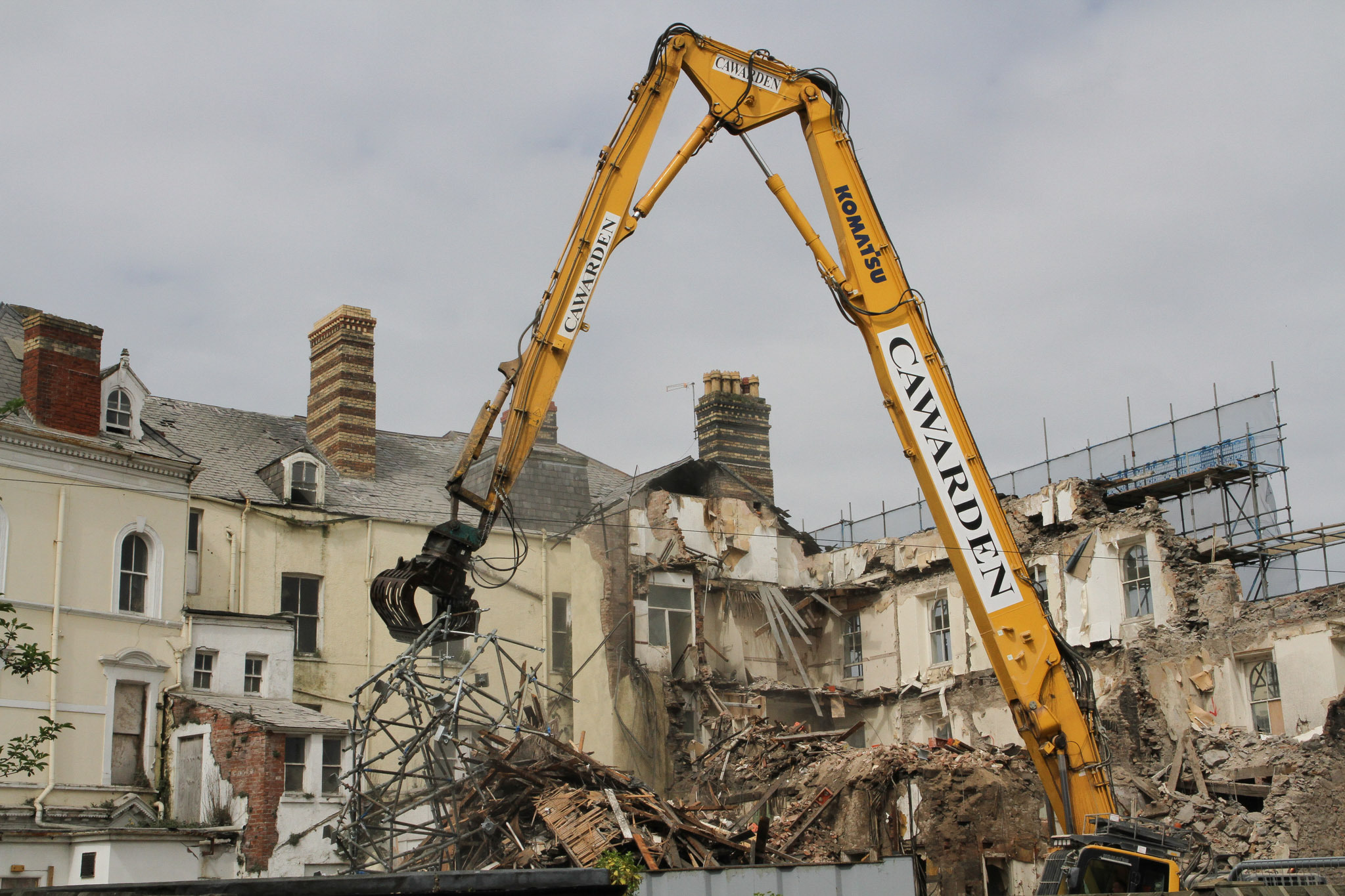 Demolition work of the Tudno Castle Hotel last year. Picture: Kerry Roberts, KR200417a