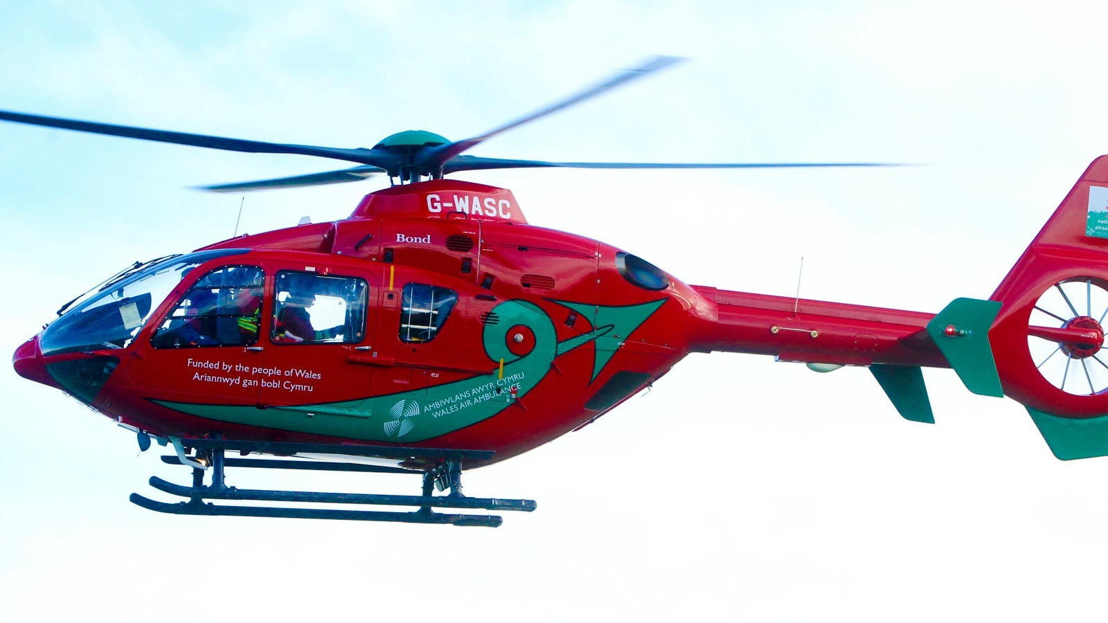 A motorcyclist was airlifted to hospital after an A5 crash on Saturday
