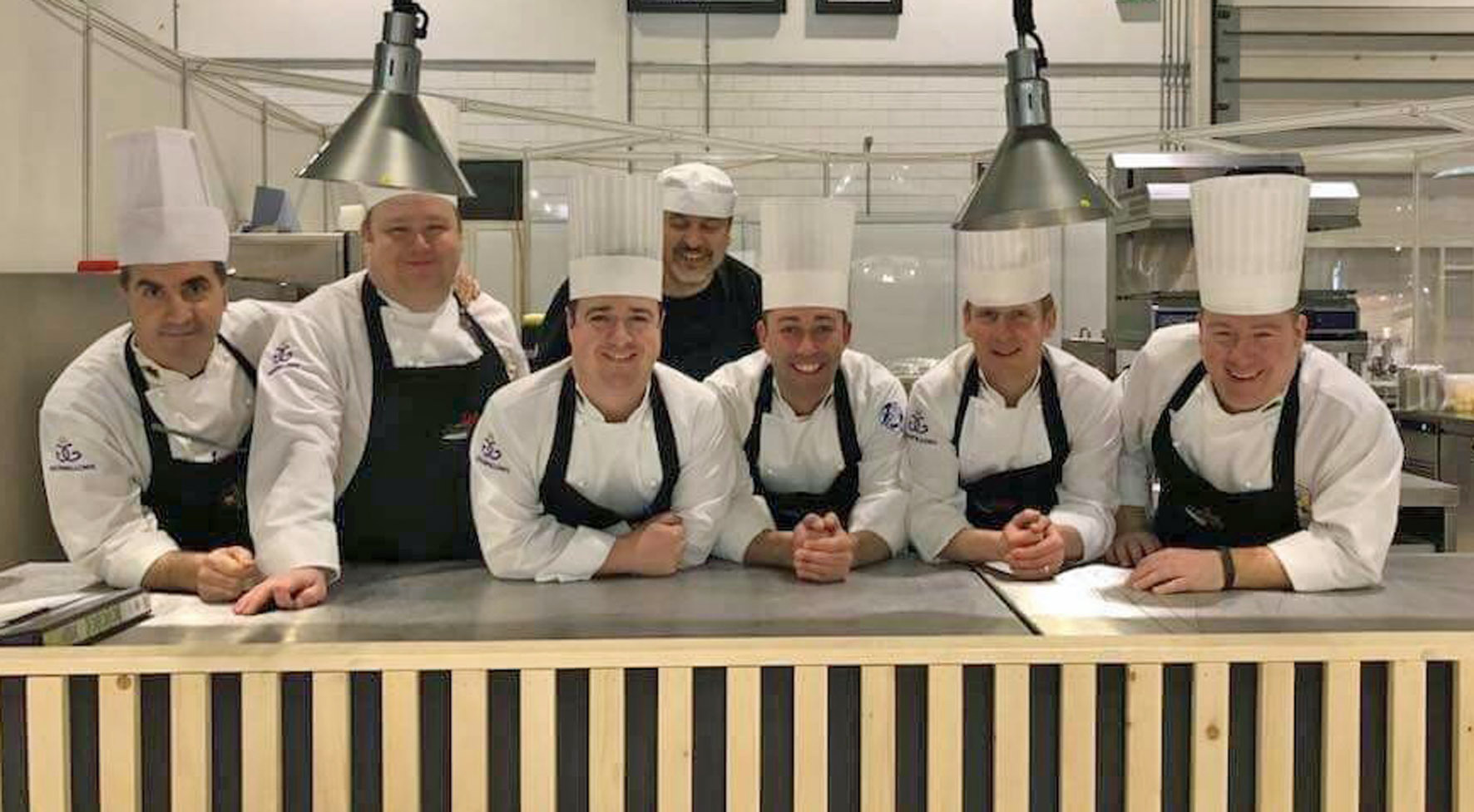 Culinary Team Wales: Sergio Cinotti, Jason Hughes, Hefin Roberts, Brian Henry, Danny Burke, Alun Davies and Toby Beevers