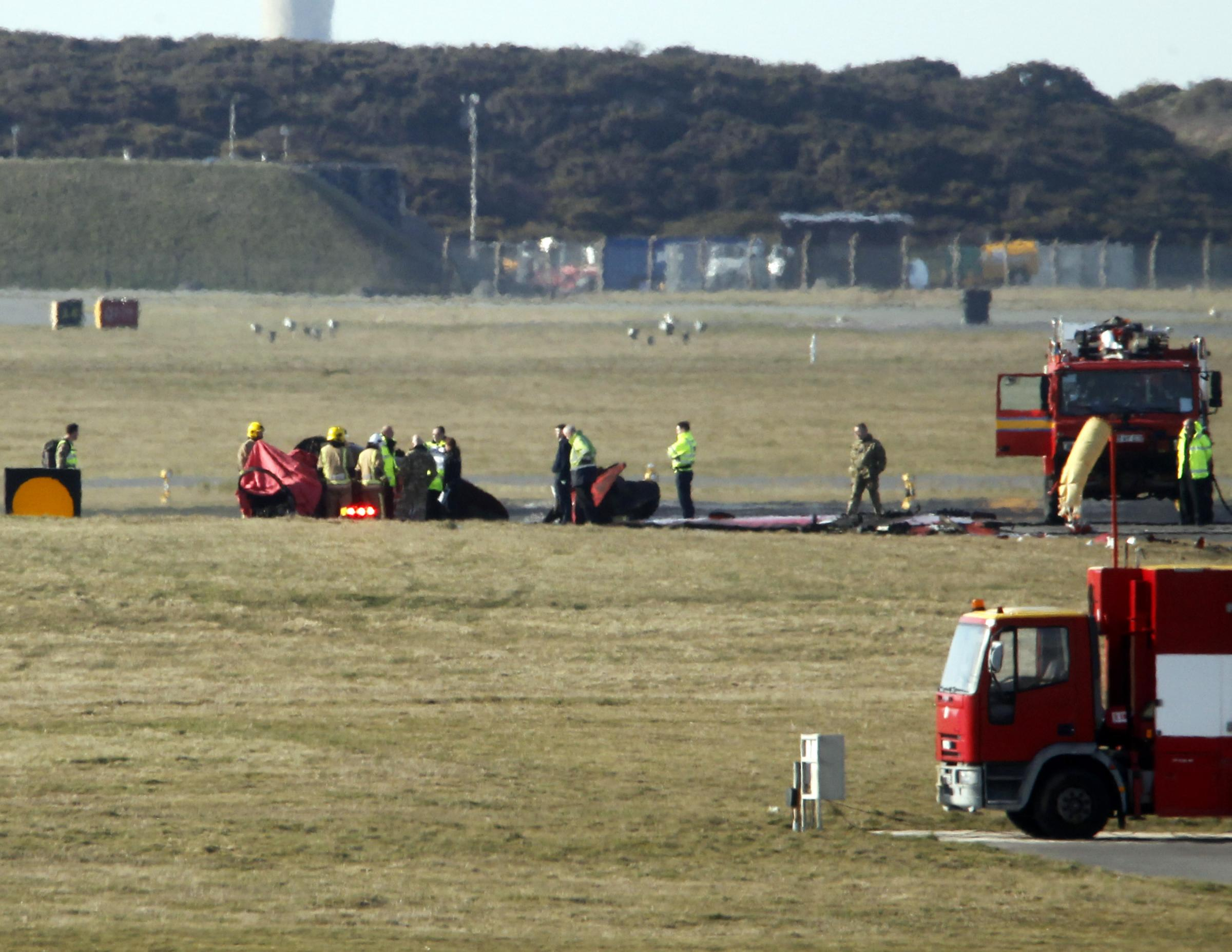 Red Arrows jet crashed at RAF Valley. Picture: Dave Thomas