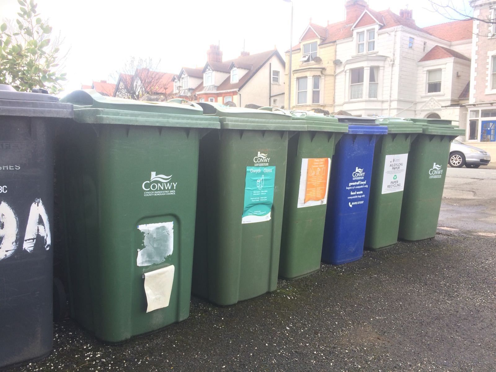Cony County Borough Council bins. Picture; Kerry Roberts