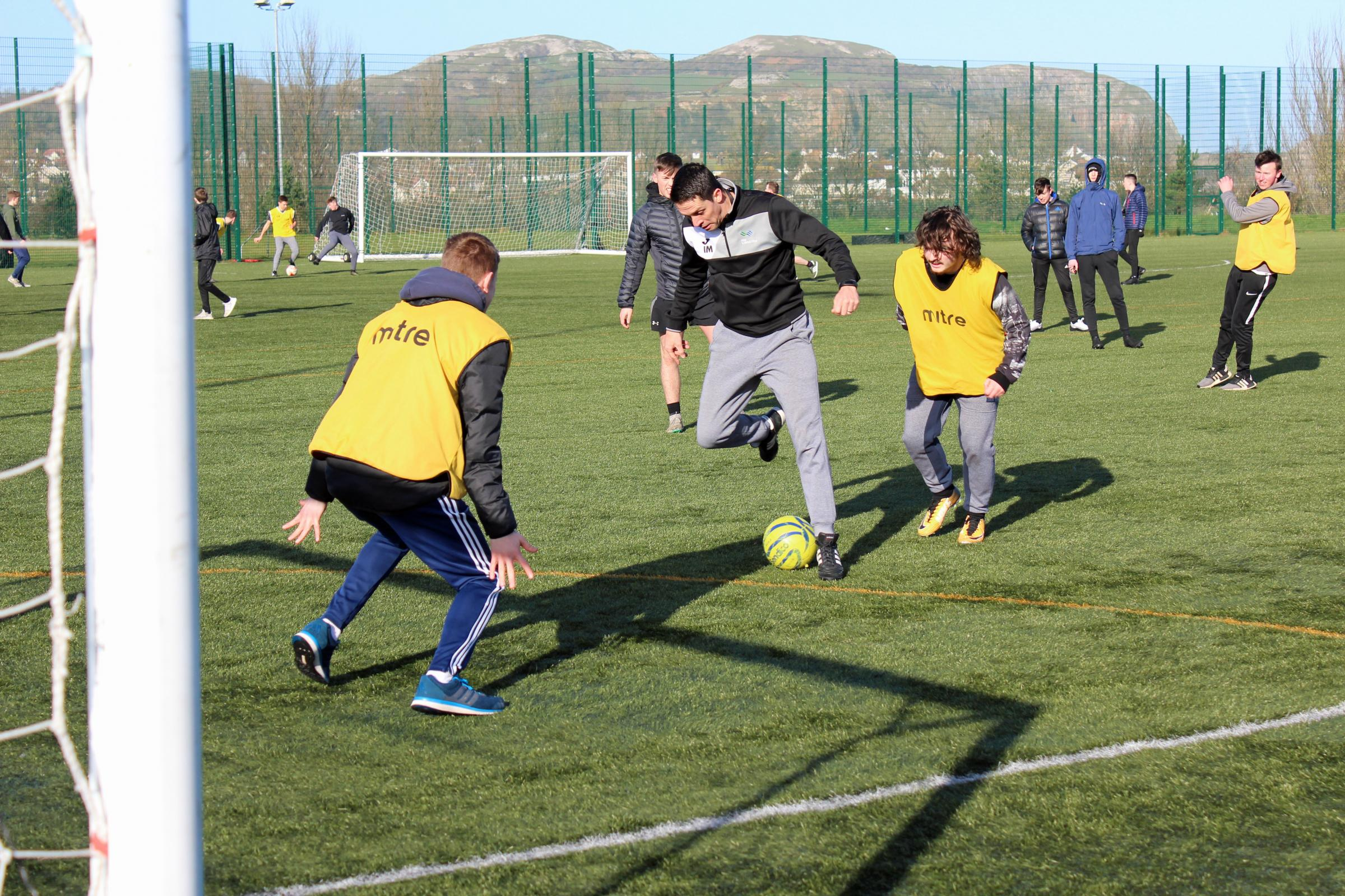 Action from the seven-a-side tournament
