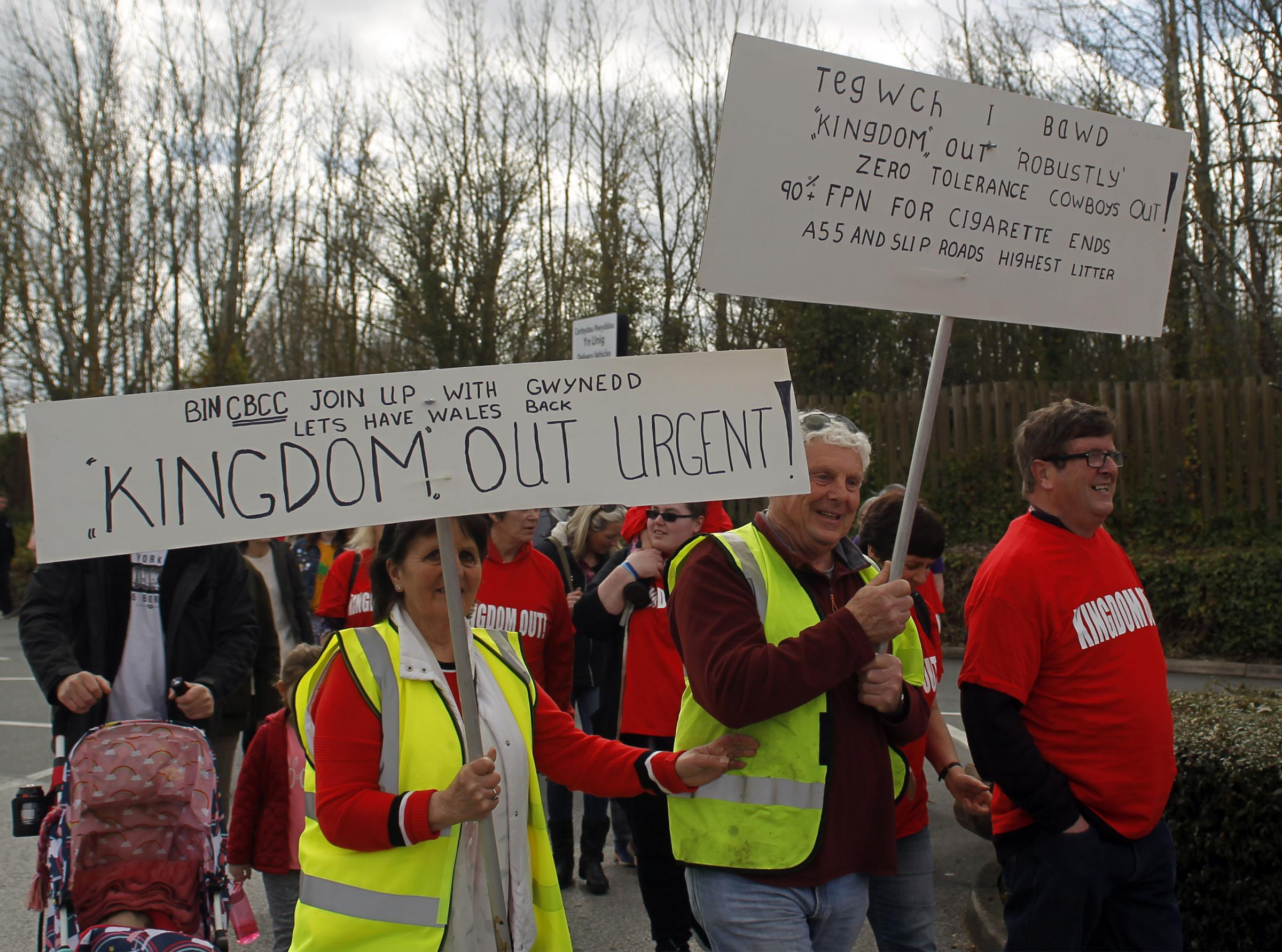 Kingdom protestors in Llandudno Junction recently. Picture: David Thomas