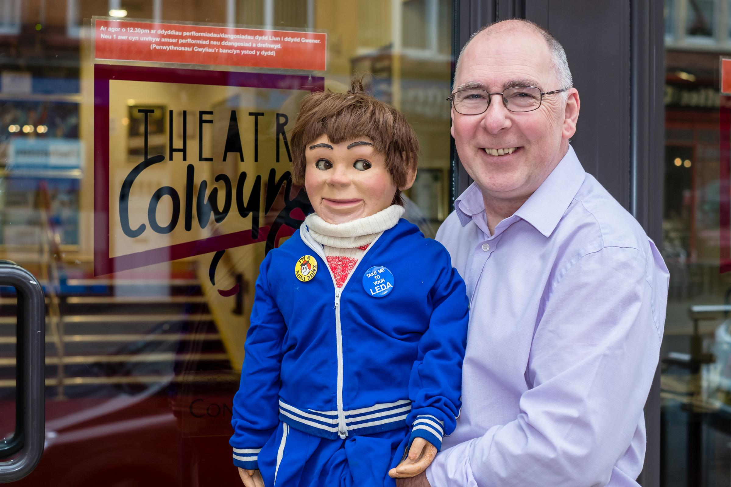 Phil Batty and his ventiloquist dummy Charles