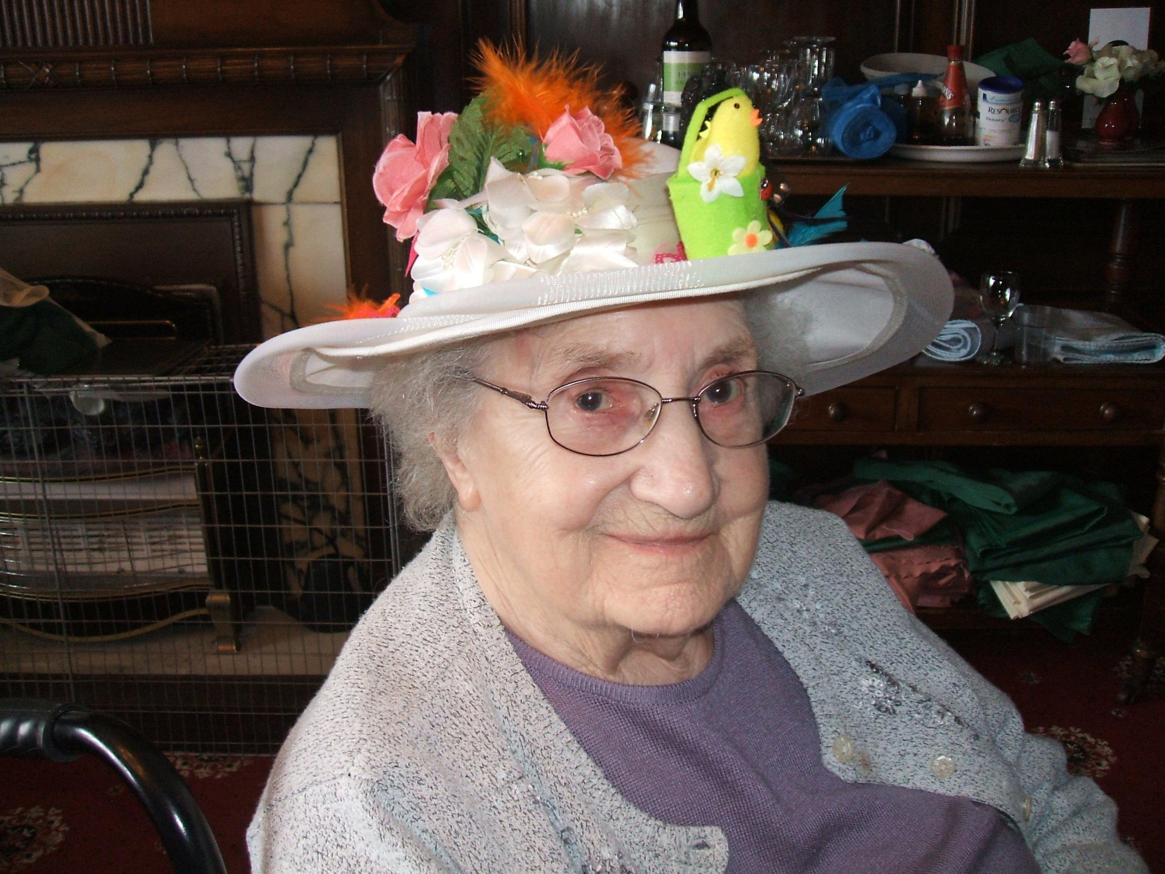 Nancy from High Pastures nursing home on the wear a hat to work day