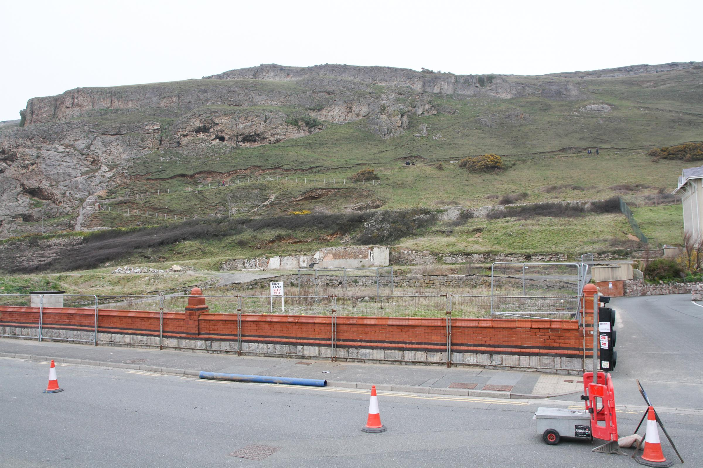 The Penmorfa Hotel site in Llandudno's West Shore. Picture: Kerry Roberts, KR120418h