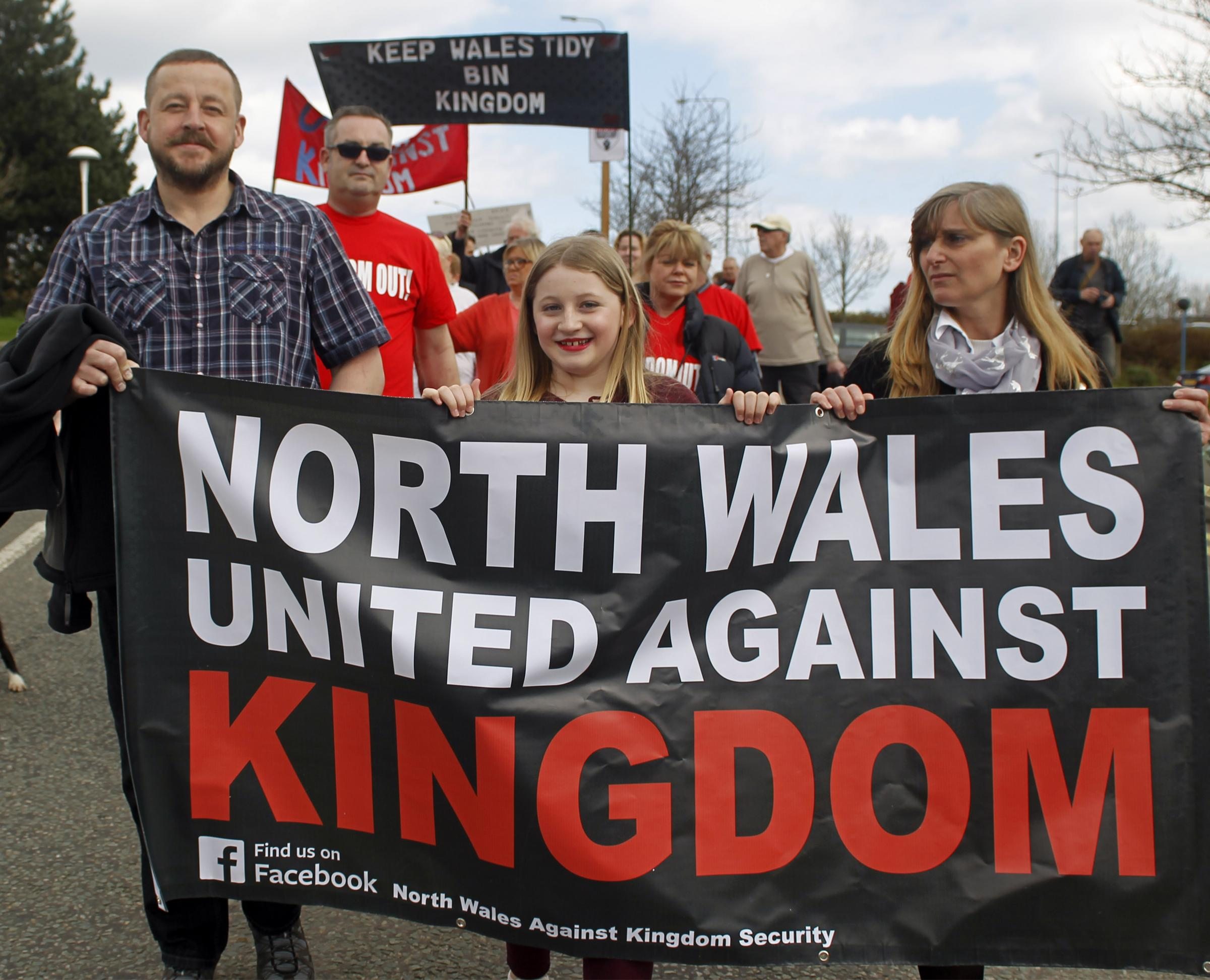 North Wales against Kingdom Security members at a recent protest. Picture: David Thomas