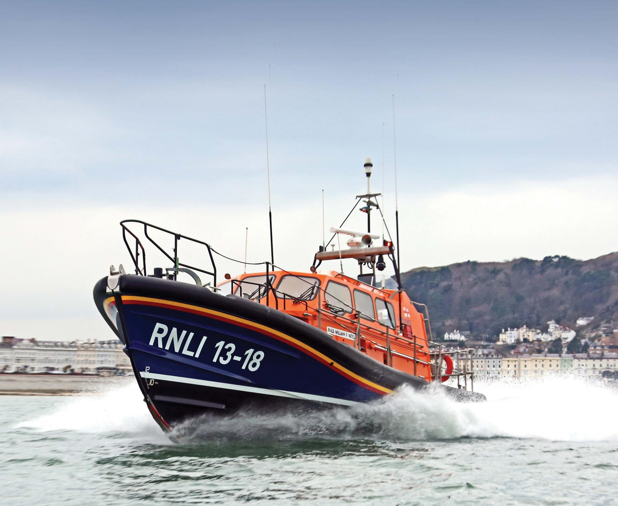 The current Llandudno lifeboat, the William F Yates. Picture: Nicholas Leach