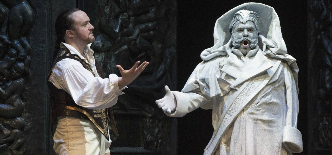 Don Giovanni and the statue of the Commendatore. Picture: Welsh National Opera Company