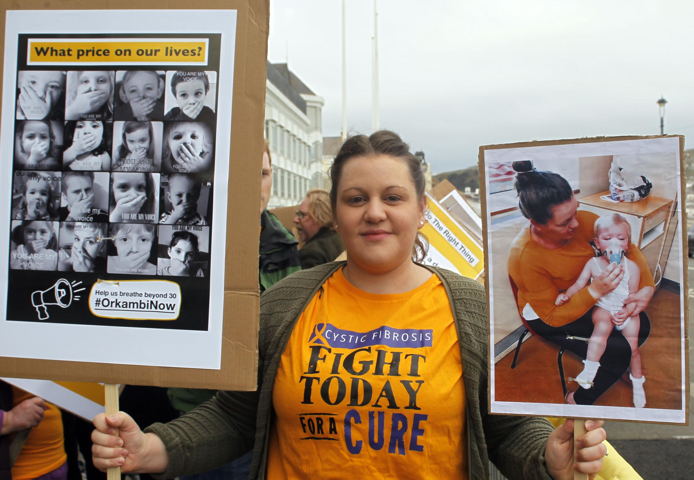 Kim Roberts was the organiser of the Orkambi protest on Sunday. Picture: David Roberts