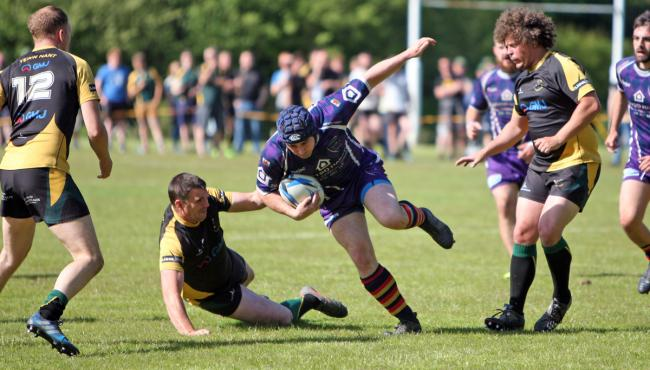 Action from Nant Conwy Seconds' cup win over Menai Bridge (Photo: Richard Birch)