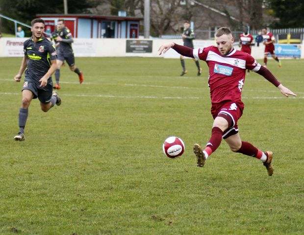 Colwyn Bay entered the game with no recognised strikers