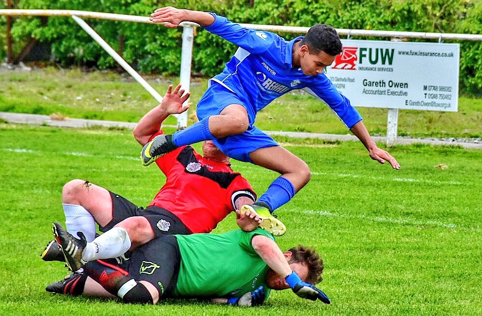 Action from Llandudno Amateurs' JD Welsh Cup success at Amlwch Town