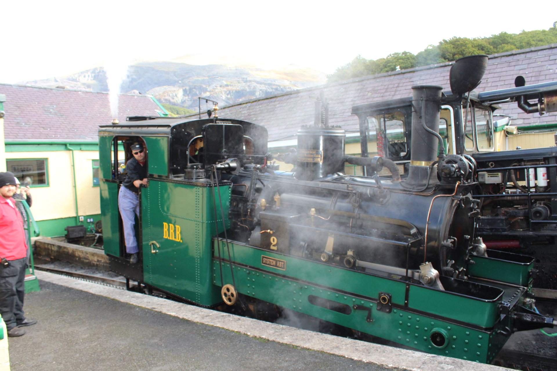 Swiss steam engine from the Brienz Rothorn Bahn is currently visiting Snowdon Mountain Railway