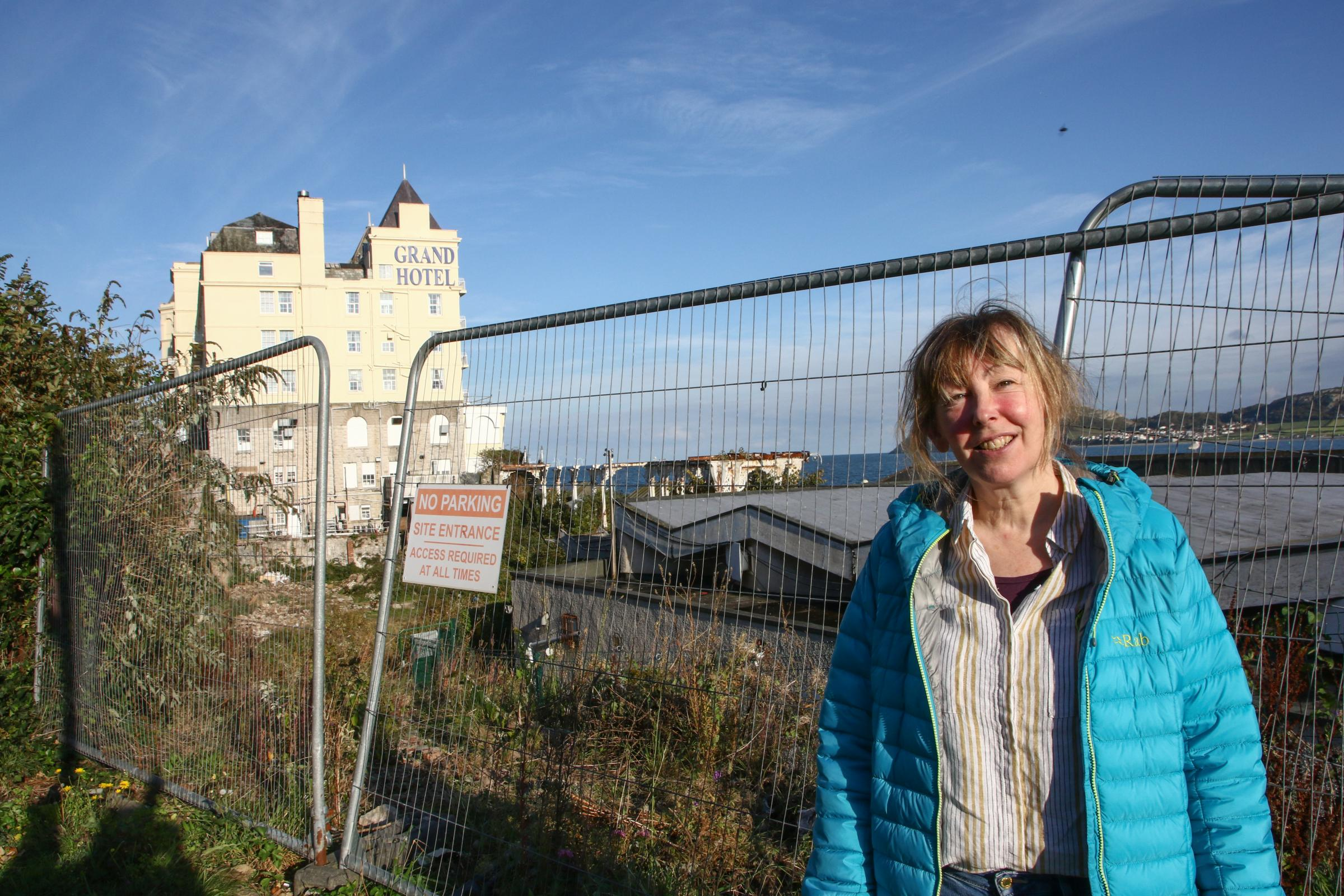 Debbie Wareham by the Pier Pavilion site in Llandudno. Picture: Kerry Roberts