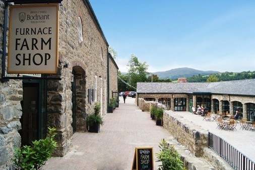 The Bodnant Welsh Food Centre.