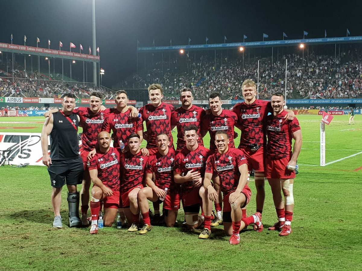 Afon Bagshaw played a starring role for Wales on day two of the Dubai World Sevens Series