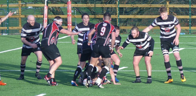 Action from Llandudno's SWALEC Plate victory over Blaenavon (Photo by Gary Williams)