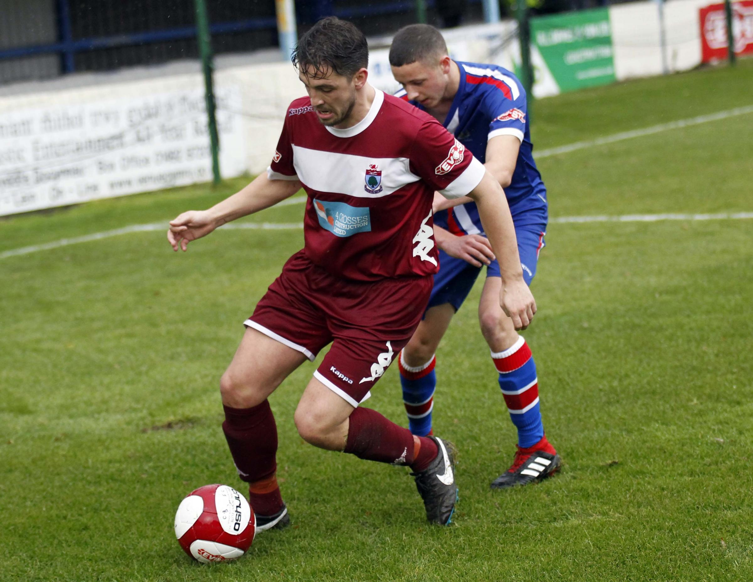 Ashley Woods netted Colwyn Bay's winner against Prescot Cables (Photo by Dave Thomas)