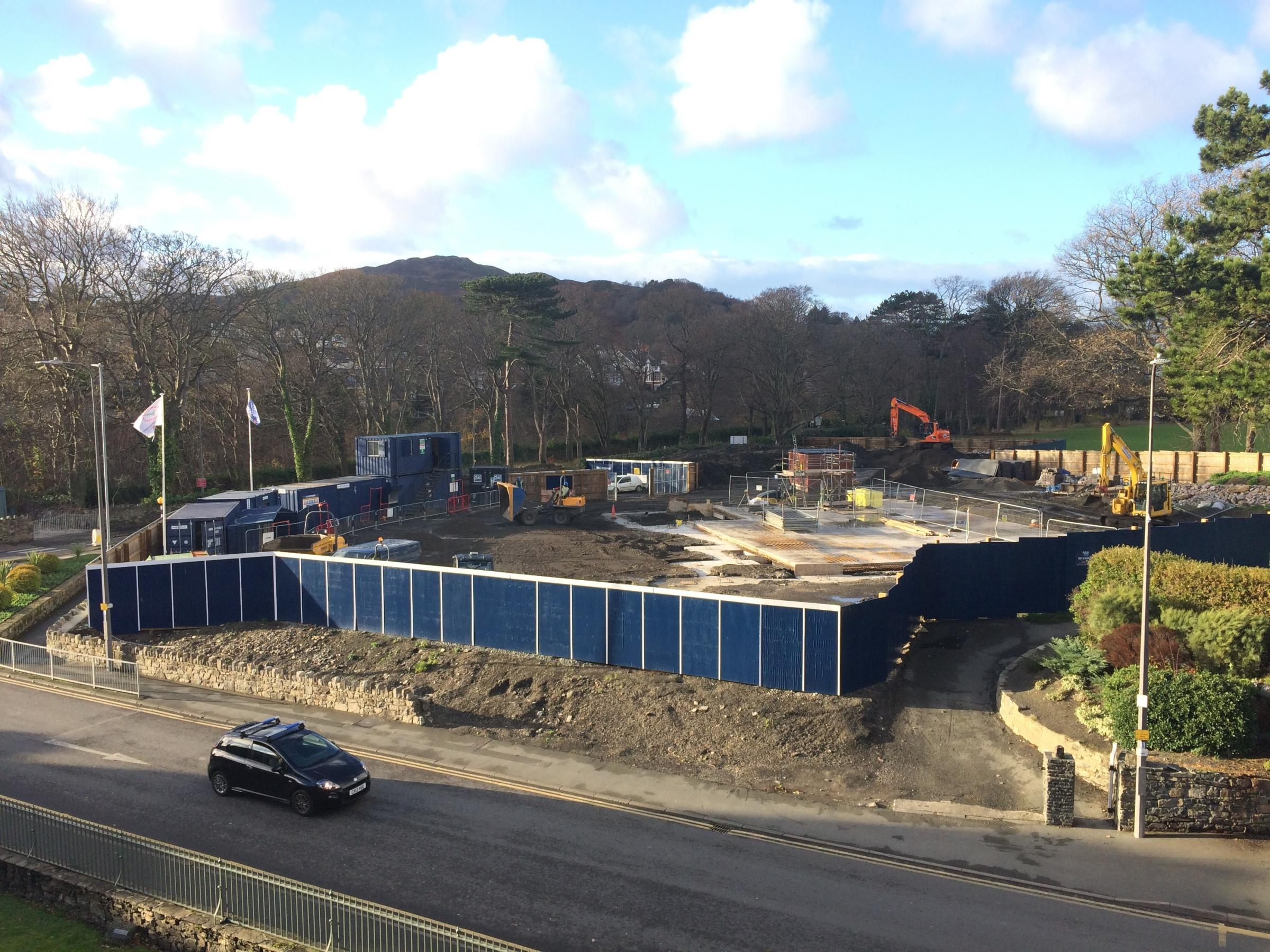 The new Conwy Culture Centre site. Picture: Kerry Roberts