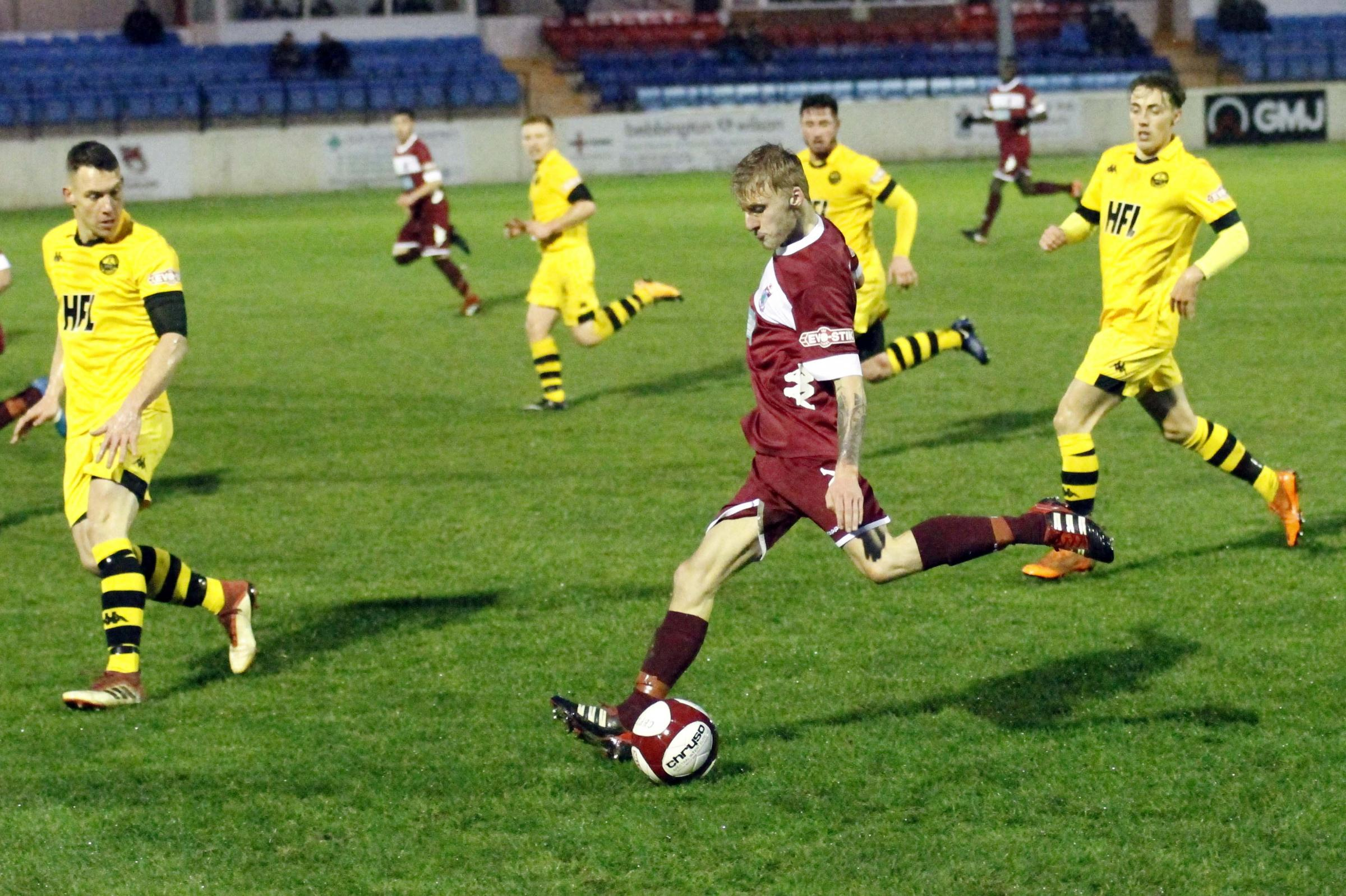 Colwyn Bay were beaten for the first time in seven at Chasetown (Photo by Dave Thomas)