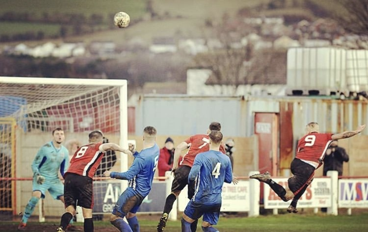 Action from Holyhead Hotspur's defeat at Prestatyn Town