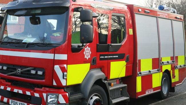 North Wales Fire and Rescue Service sent a crew to the