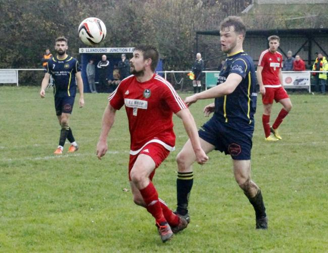 David Maddock netted twice for Llandudno Albion