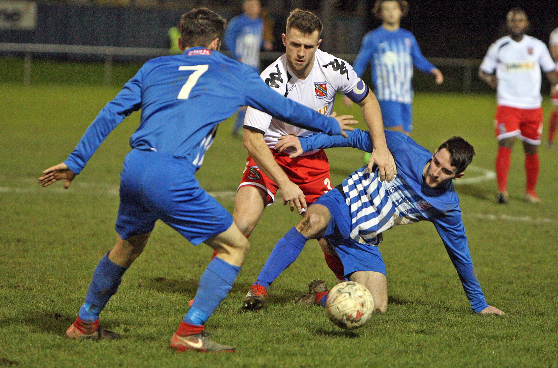 Holyhead Hotspur were beaten at home by Penrhyncoch (Photo by Richard Birch)
