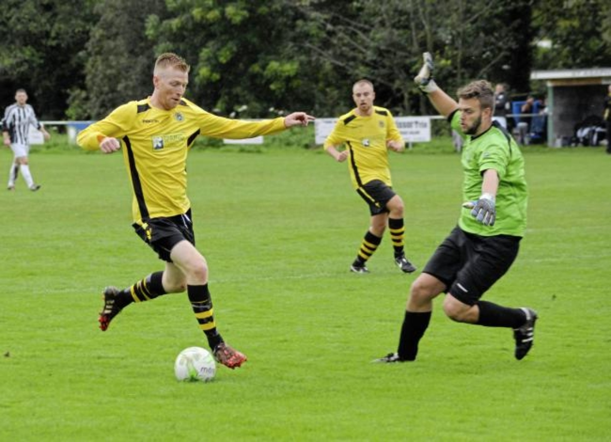 Paul Fleming opened the scoring for St Asaph City at Mynydd Llandegai