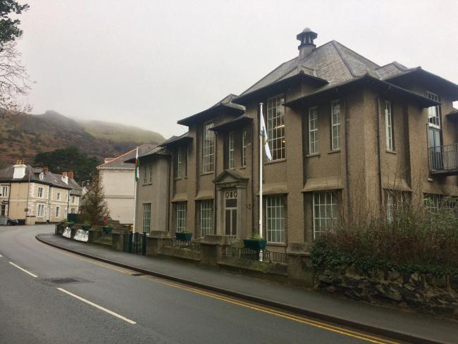 Penmaenmawr's community centre where the town council meets