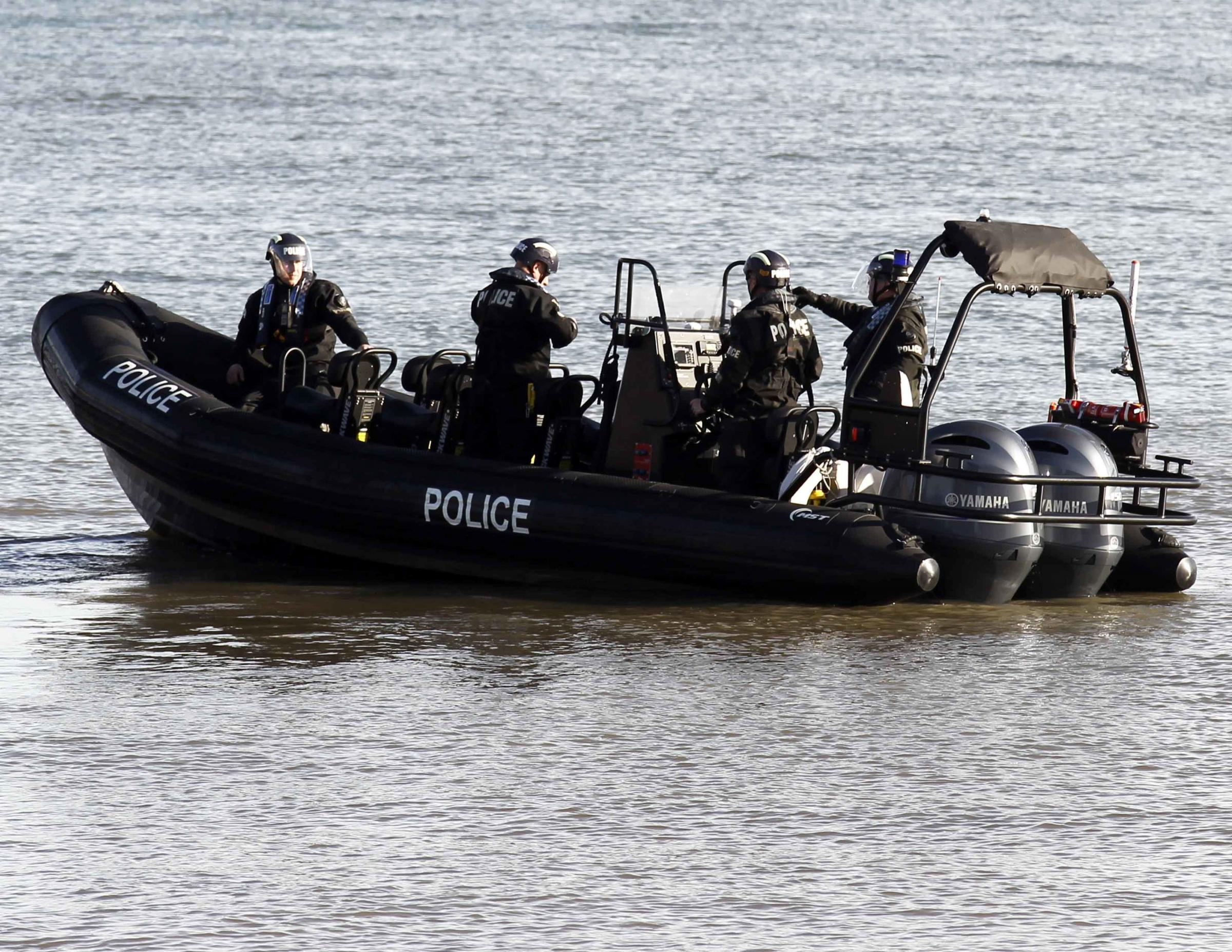 North Wales Police officers and underwater teams searching the Llandudno area. Picture: David Thomas