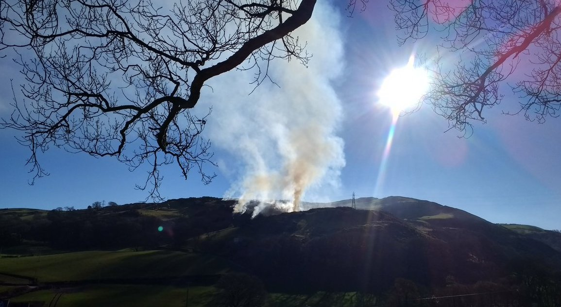 Controlled burning at Rhyd y Foel. Picture: Geoff Abbott