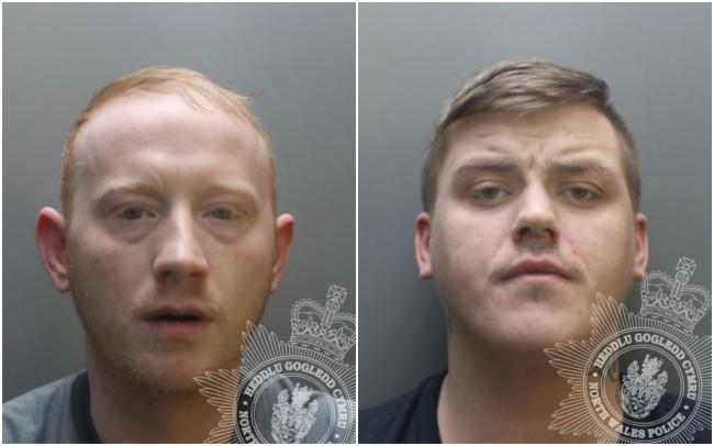 Andrew Leigh Martin, left, and Alexander Foster have been jailed for a shoplifting spree across North Wales