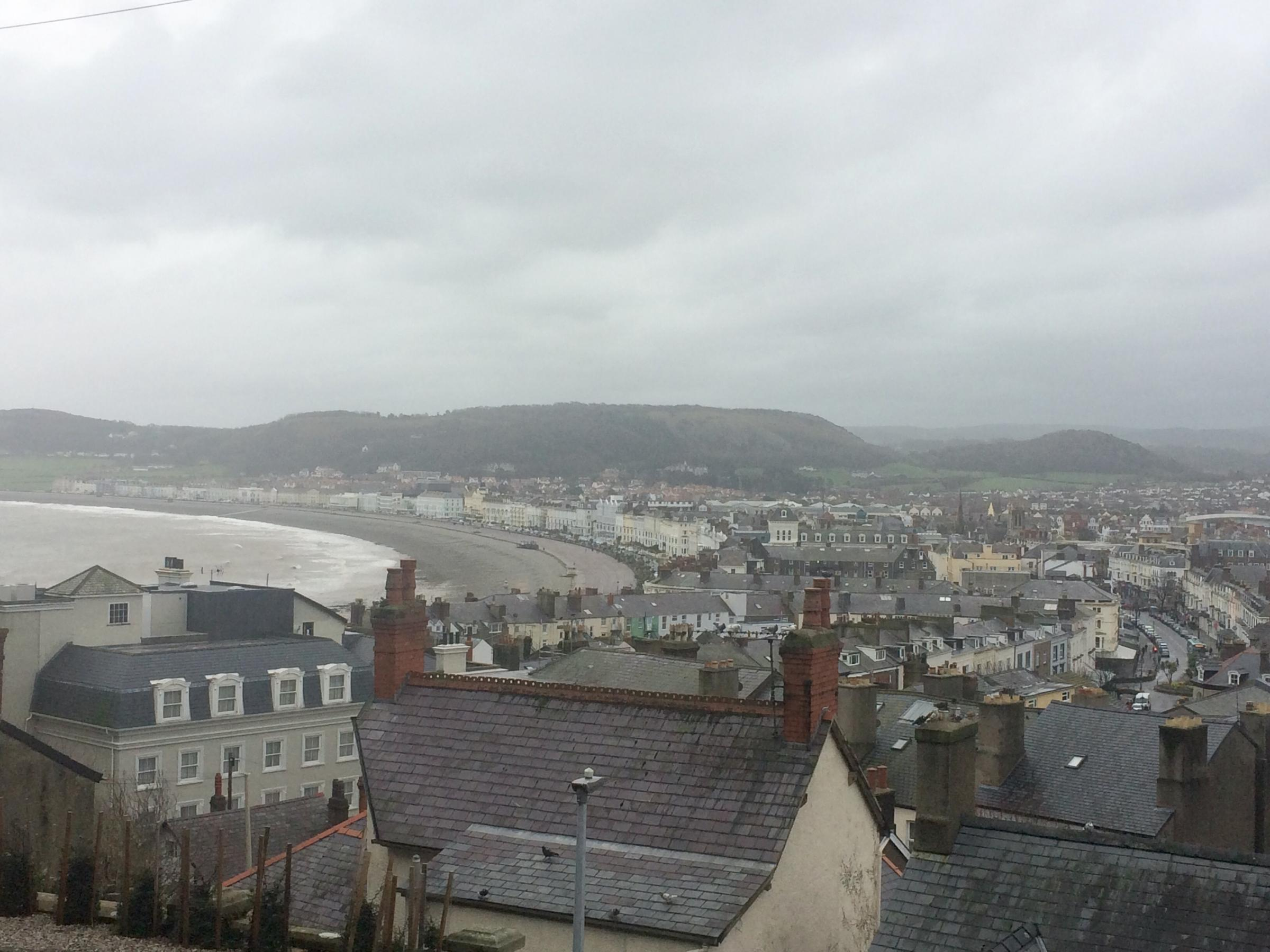 Llandudno flooding risk. Picture: Kerry Roberts