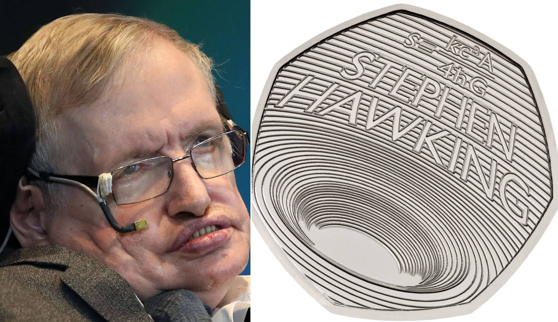Stephen Hawking has been commemorated on a new 50p coin