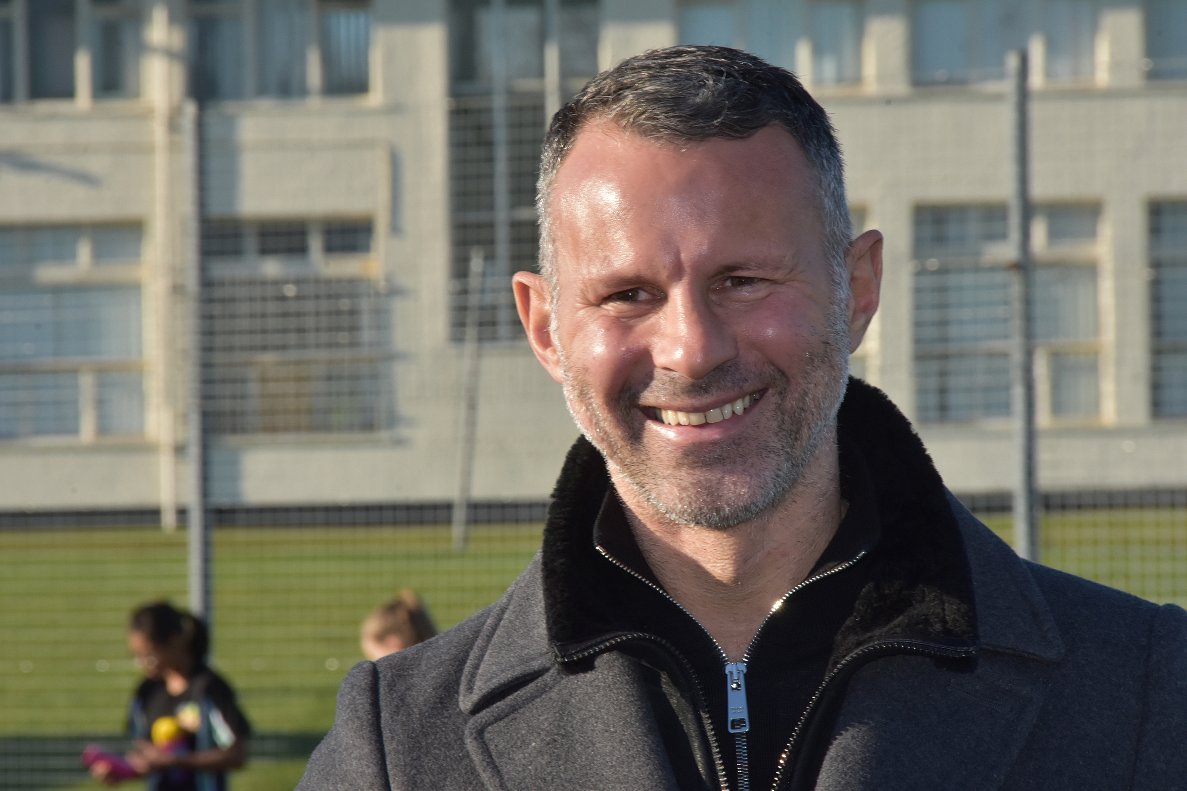 Giggs during a visit to Llangefni last year.