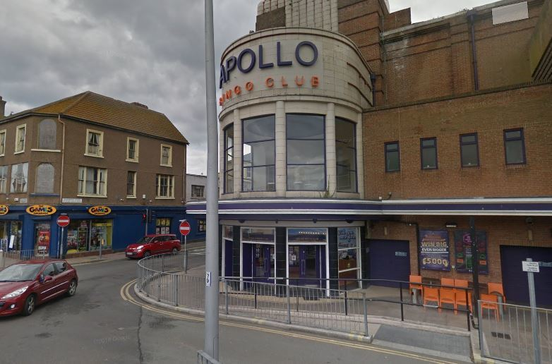 The unprovoked attack took place at Apollo Bingo on Brighton Road, Rhyl. Picture: Google Street View