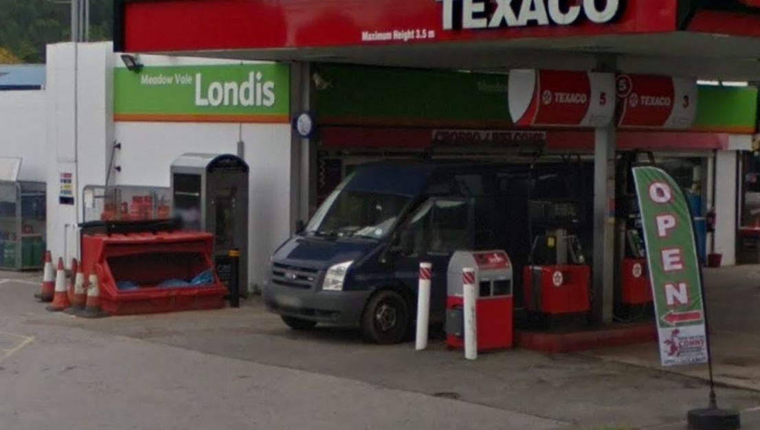 ATM machine on the forecourt of Meadow Vale garage has been damaged. Picture: GoogleMaps