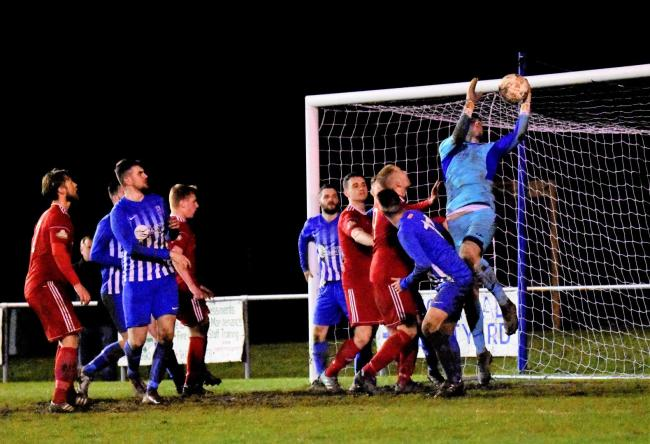 Holyhead Hotspur were beaten at a strong Colwyn Bay side