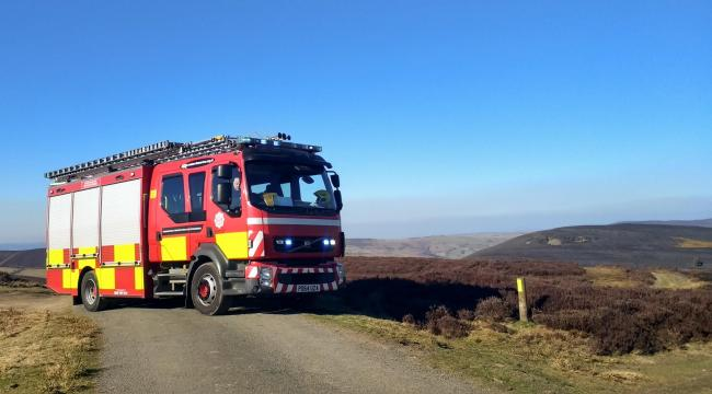 Firefighters had to tackle a series of gorse fires across the region on Friday