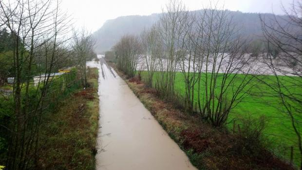 North Wales Pioneer: Flooding on the Conwy Valley railway line