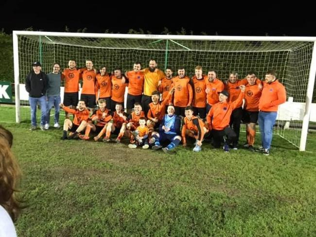 Llandudno Athletic celebrate their Premier Cup victory