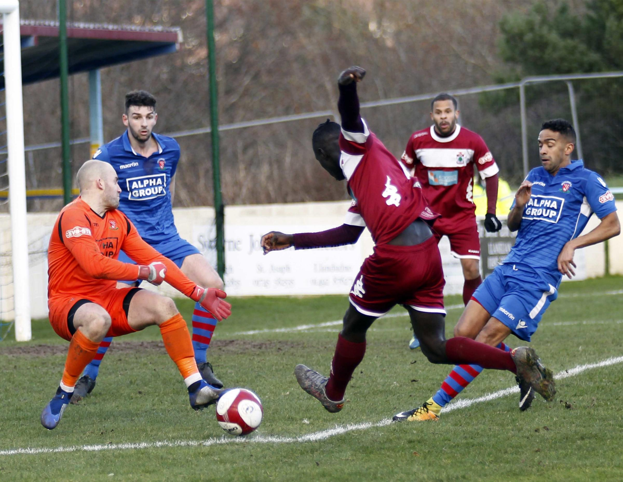 Colwyn Bay were beaten at Runcorn Linnets (Photo by Dave Thomas)