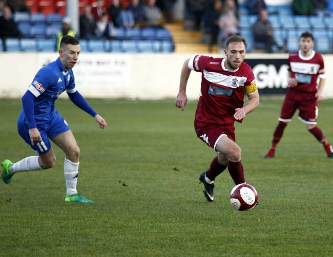 Colwyn Bay captain Tom McCready has signed a new deal with the club (Photo by Dave Thomas)