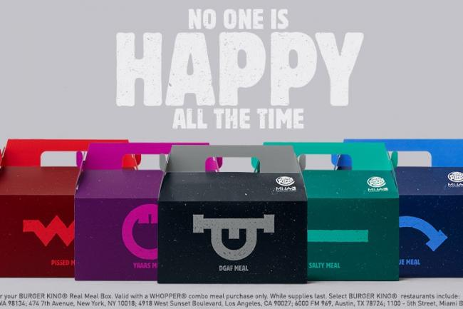 Burger King Offers Range Of Mood Meals Because No One Is