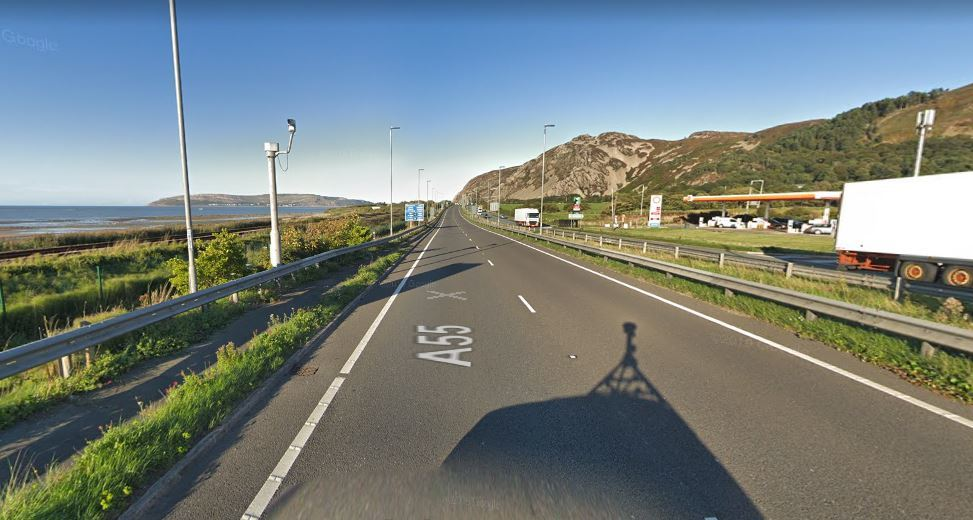 The stretch of road heading East between Dwygyfylchi and Conwy has been reopened. Picture: Google Street View