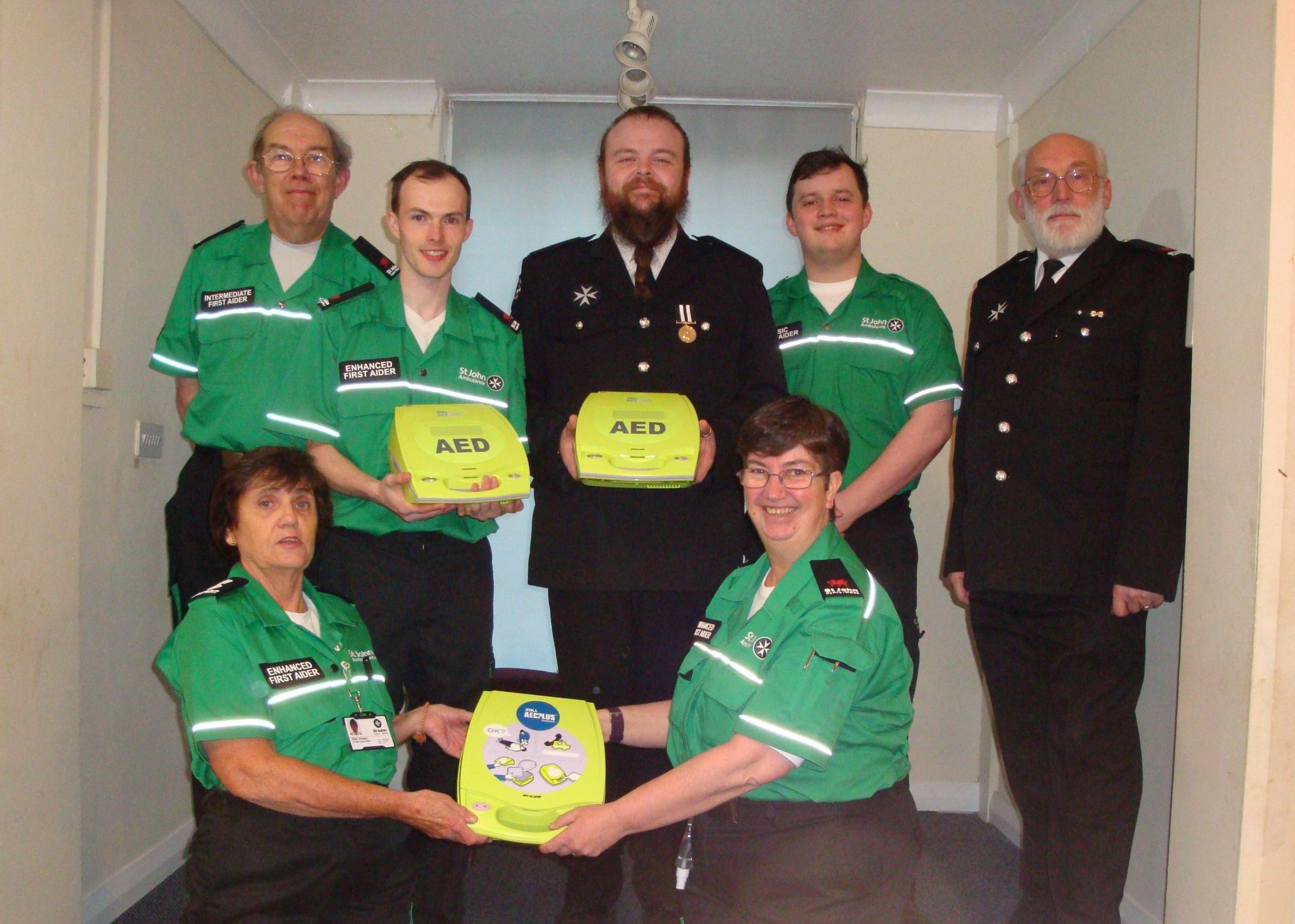 Colwyn Bay St John Ambulance and the new kit